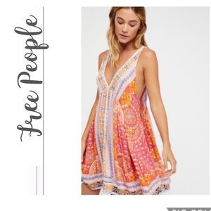 NWT Free People In Dreams Trapeze Slip Dress